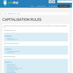 Capitalisation rules