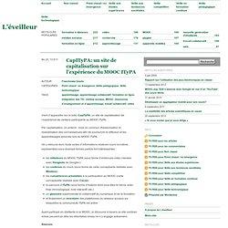 CapITyPA: un site de capitalisation sur l'expérience du MOOC ITyPA