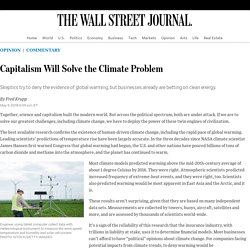 Capitalism Will Solve the Climate Problem