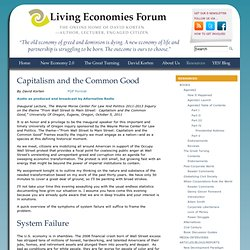 Capitalism and the Common Good | Living Economies Forum