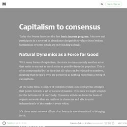 From capitalism to consensus