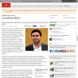 Capitalism and its critics: A modern Marx