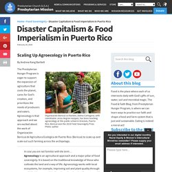 Food and Faith Disaster Capitalism & Food Imperialism in Puerto Rico - Food and Faith