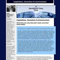 Capitalism, Socialism & Communism: What They Are, Why They Don't Work, What Works Better