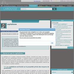 Encyclopédie Larousse en ligne - capitalisme