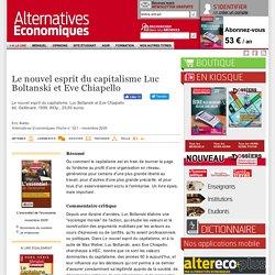 Le nouvel esprit du capitalisme Luc Boltanski et Eve Chiapello
