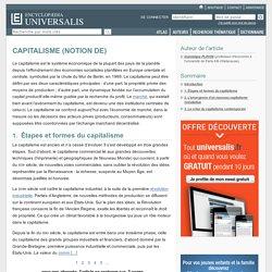 CAPITALISME (NOTION DE)