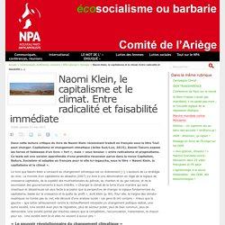 Naomi Klein, le capitalisme et le climat. Entre radicalité et faisabilité immédiate