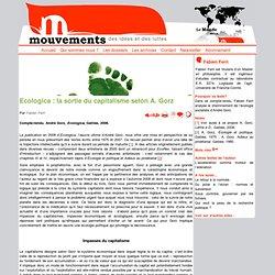 Ecologica : la sortie du capitalisme selon A. Gorz