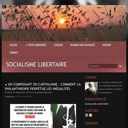 ★ Un composant du capitalisme : comment la philanthropie perpétue les inégalités - Socialisme libertaire