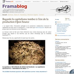 Regarde le capitalisme tomber à l'ère de la production Open Source