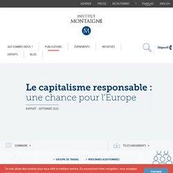 Le capitalisme responsable : une chance pour l'Europe
