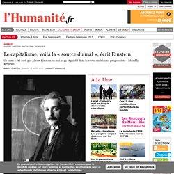 Le capitalisme, voilà la « source du mal », écrit Einstein