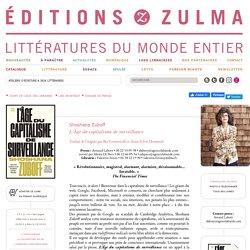 L'Âge du capitalisme de surveillance - Editions Zulma