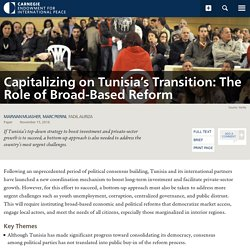 Capitalizing on Tunisia's Transition: The Role of Broad-Based Reform