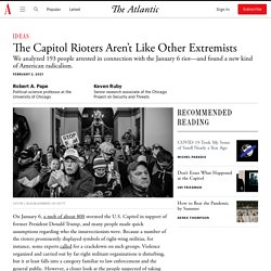 2/2/21: The Capitol Rioters Aren't Like Other Extremists