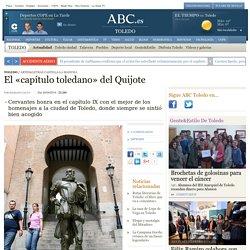 El «capítulo toledano» del Quijote