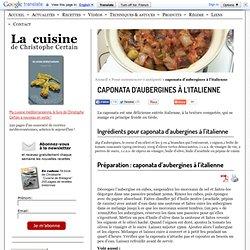 caponata d'aubergines à l'italienne