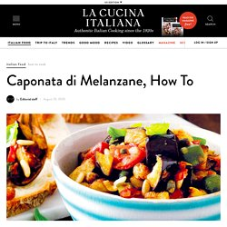 Caponata di Melanzane, How To - La Cucina Italiana