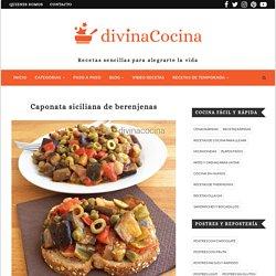 Receta de caponata siciliana de berenjenas