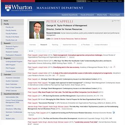 Peter Cappelli - Management Department
