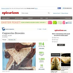 Cappuccino Brownies Recipe at Epicurious