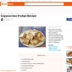 Cappuccino White Chocolate Fudge Recipe