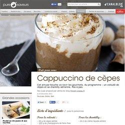 Cappuccino de cèpes - Grandes occasions
