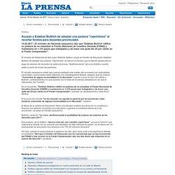 """Acusan a Esteban Bullrich de adoptar una postura """"caprichosa"""" al recortar fondos para docentes provinciales - Política"""
