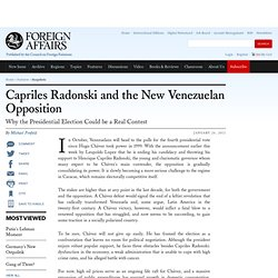 Capriles Radonski and the New Venezuelan Opposition