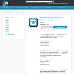 Capstone Examination Part 3 Answers - UOPEHELP