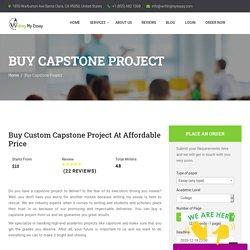 Buy Capstone Project Online - WritingMyEssay.com