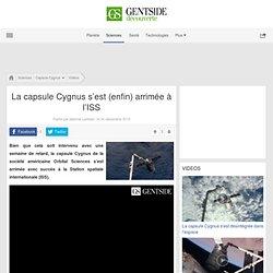 La capsule Cygnus s'est (enfin) arrimée à l'ISS