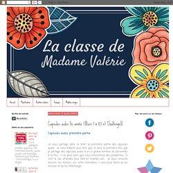 La classe de Madame Valérie: Capsules audio 5e année (Blocs 1 à 12) et ChallengeU