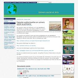 Capsules audiovisuelles en univers social au primaire - [Univers social et Arts]