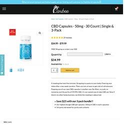 50mg CBD Capsules - 30 count