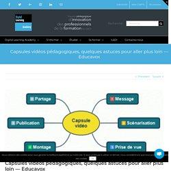 Capsules vidéos pédagogiques, quelques astuces pour aller plus loin — Educavox