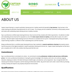 About Us - Captain Carpet Cleaning in Sydney and Suburbs