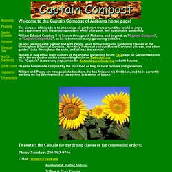 The Captain Compost of Alabama Home Page (William E. Cureton II)