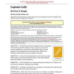 RTE #38 ~ Captain Cully (The Last Unicorn, Peter Beagle)