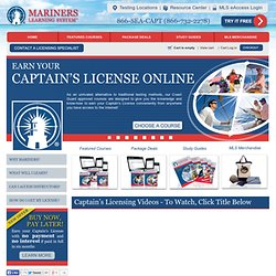 Captain's License Online | Mariners School | MarinersLearningSystem.com