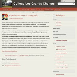 Captain America ou la propagande anti-communiste - Collège Les Grands Champs