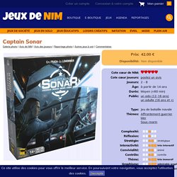 Captain Sonar: jeu de société chez Jeux de NIM