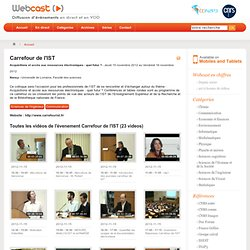 WebCast - Captation / Encodage / Diffusion de vidéos / Centre de Calcul de l'IN2P3 CNRS