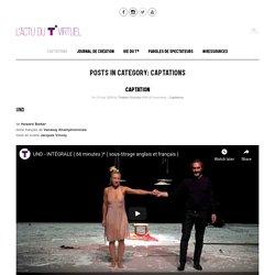Captations du théâtre Olympia, CDN de Tours
