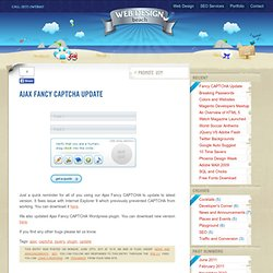 Ajax Fancy CAPTCHA Update - WebDesignBeach.com