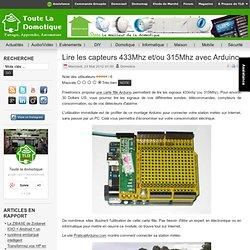 Lire les capteurs 433Mhz et/ou 315Mhz avec Arduino