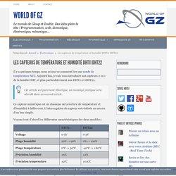 Les capteurs de température et humidité DHT11 DHT22