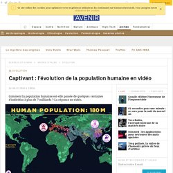 Evolution de la population humaine en vidéo