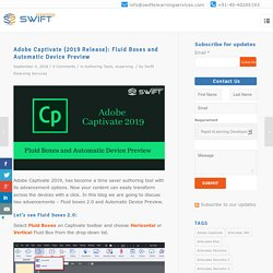 Adobe Captivate 2019: Fluid Boxes & Automatic Device Preview